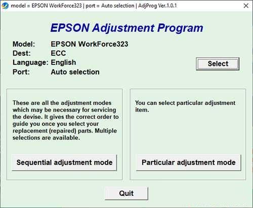 Resetear impresora Epson WorkForce 323