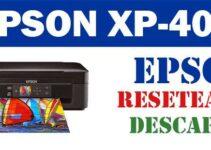 Descargar programa de ajuste del reseteador Epson XP - 402