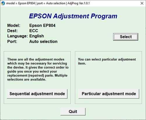 Resetear impresora Epson EP-804A