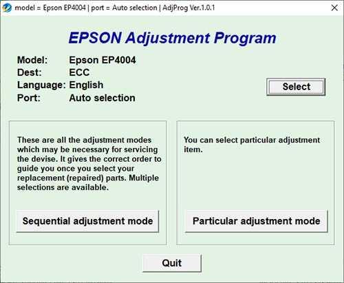 Resetear impresora Epson Stylus EP-4004