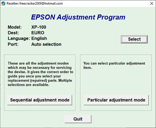 Resetear impresora Epson XP-100
