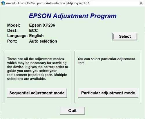 Resetear impresora Epson XP-206