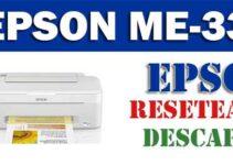 Programa de reseteo de Epson ME-35
