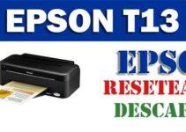 Descargar programa para resetear Epson Stylus T13