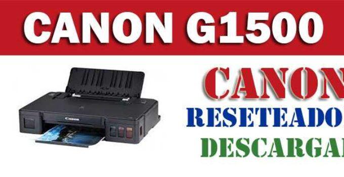 Resetear impresora Canon Pixma G1500