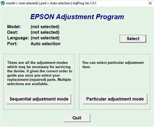 Programa de reinicio de la Epson EcoTank L4160