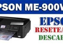 Cómo resetear impresora Epson ME-900WD: