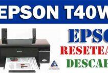 Cómo resetear impresora Epson T40W