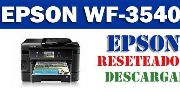 Descargar programa para resetear Epson WF-3540
