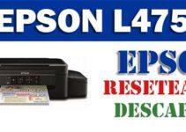 Descargar programa para resetear impresora Epson L475