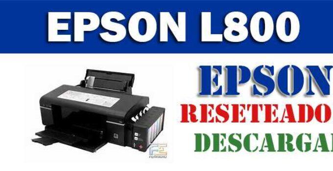 Descargar programa para resetear impresora Epson L800