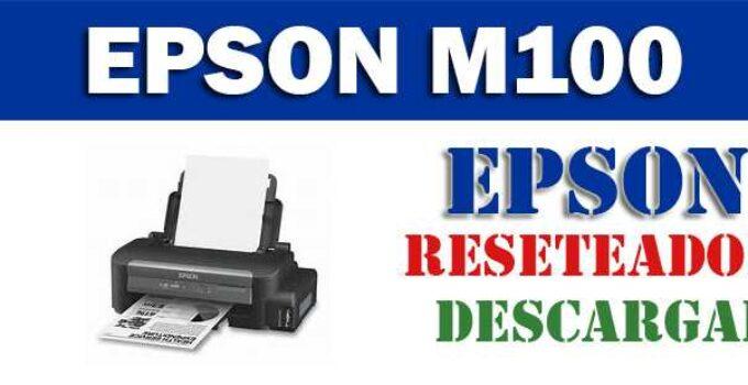 Descargar programa para resetear impresora Epson M100