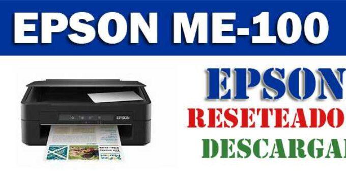 Descargar programa para resetear impresora Epson ME-100