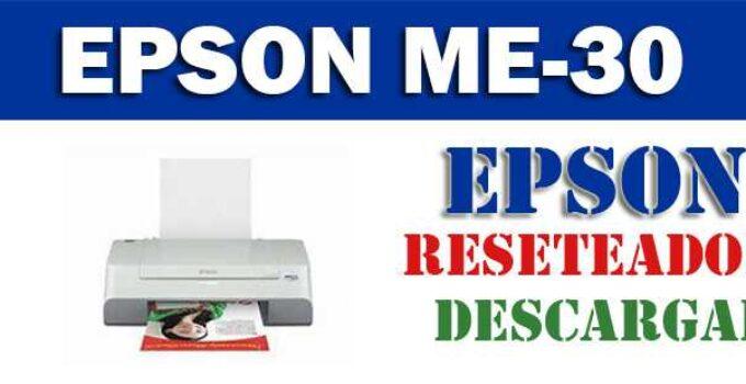 Descargar programa para resetear impresora Epson ME-30