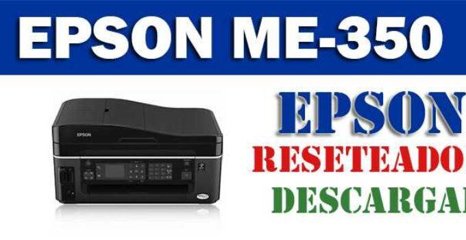 Descargar programa para resetear impresora Epson ME-350