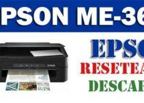 Descargar programa para resetear impresora Epson ME Office 360