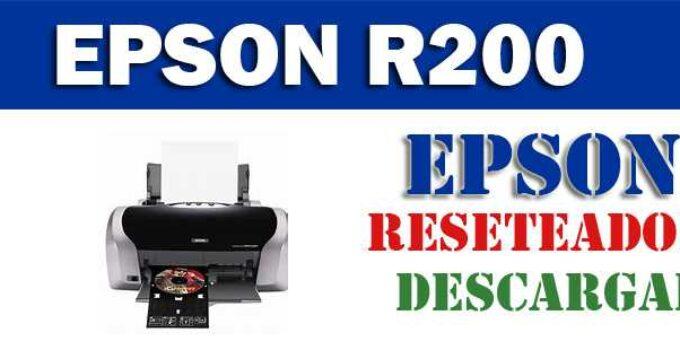 Descargar programa para resetear impresora Epson R200