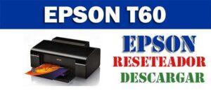Descargar programa para resetear impresora Epson T60