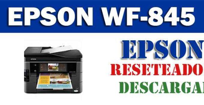 Descargar programa para resetear impresora Epson WF-845