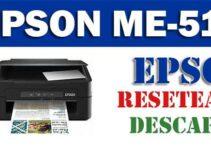 Descargar programa para resetear impresora Epson ME Office 510
